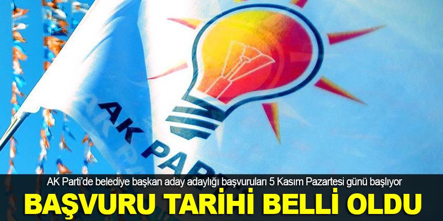 AK Parti'de başvuru tarihi belli oldu
