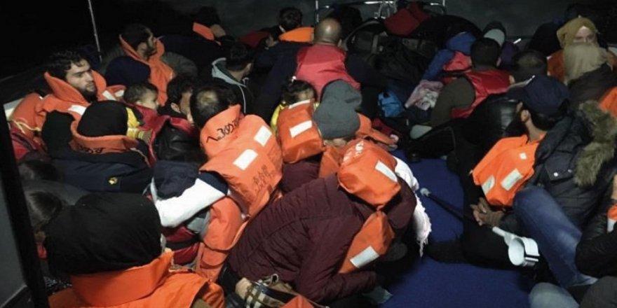 80 kaçak göçmen yakalandı