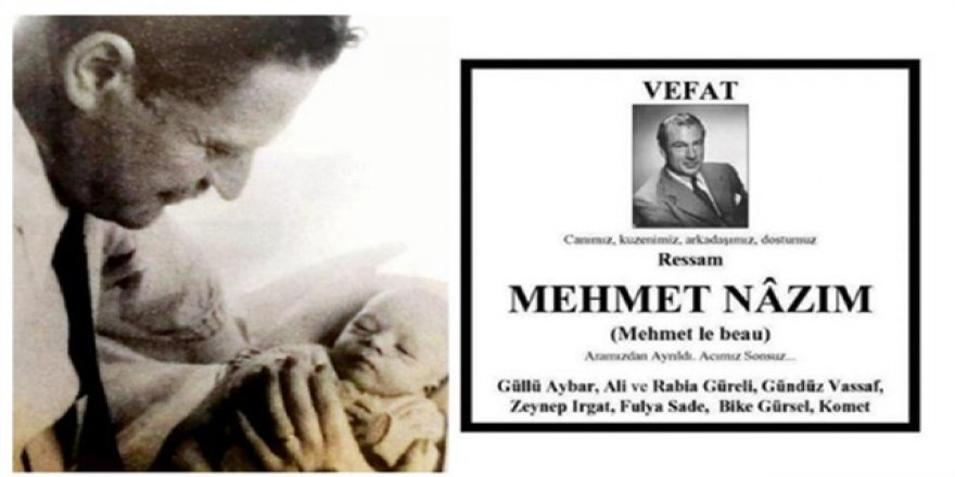 Mehmet Nazım'ın ölüm ilanı şaşırttı