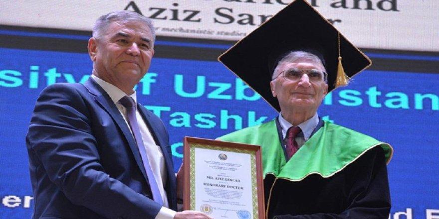 Nobel ödüllü bilim adamı Aziz Sancar'a Özbekistan'da fahri doktora