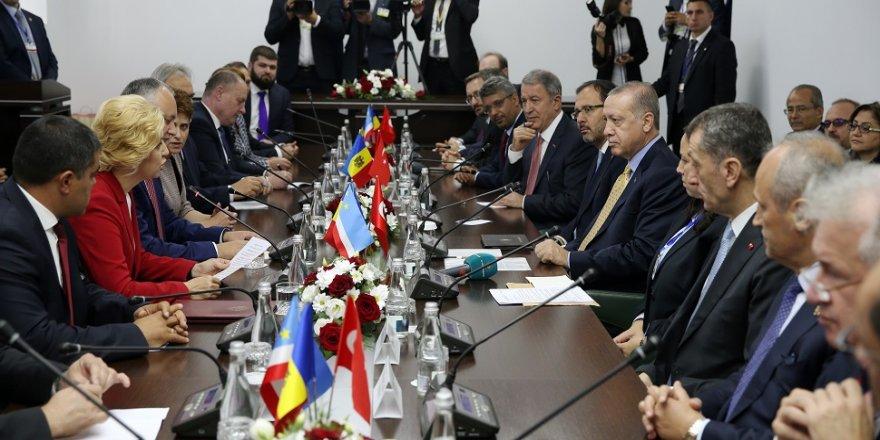 Erdoğan, Gagavuzya Başkanı Vlah'la görüştü