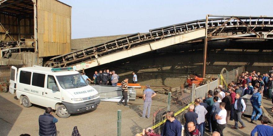Maden taşıma bandına sıkışan işçi öldü