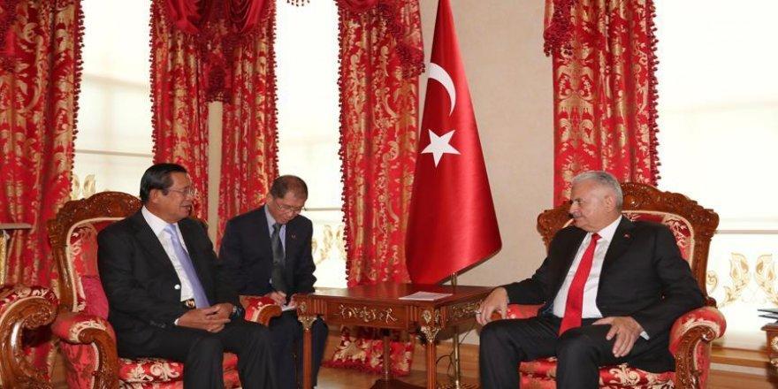 Yıldırım, Kamboçya Başbakanı ile görüştü