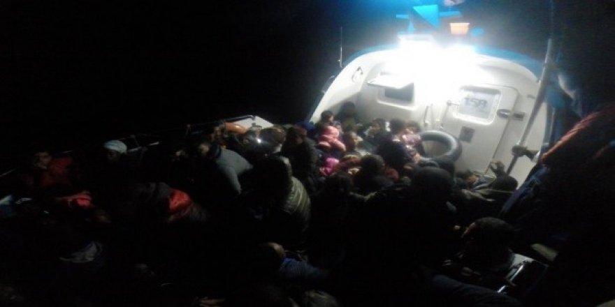 44 kaçak göçmen yakalandı