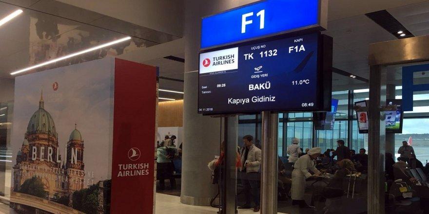İstanbul Havalimanı'ndan Bakü'ye ilk uçuş gerçekleşti