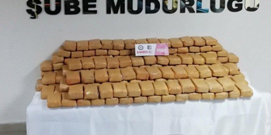 Gıda çuvallarında 110 kilo eroin ele geçirildi