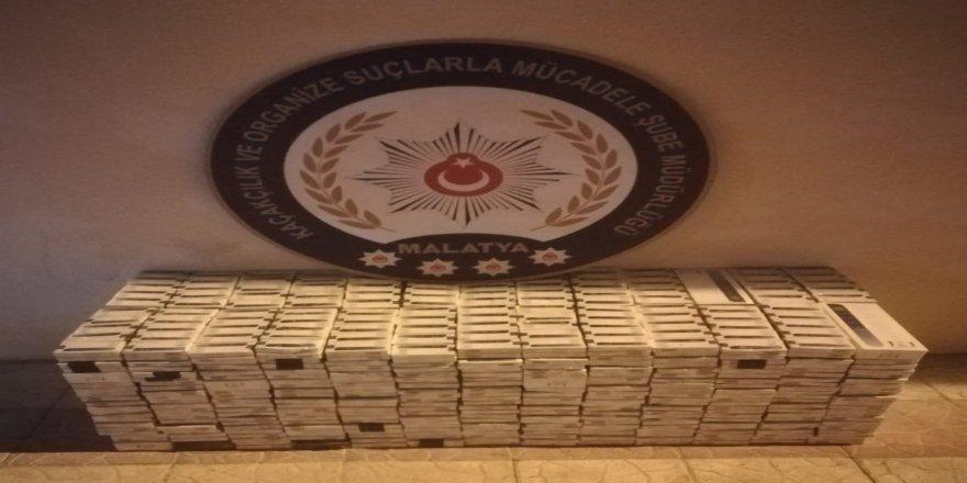 6 bin 380 paket kaçak sigara ele geçirildi