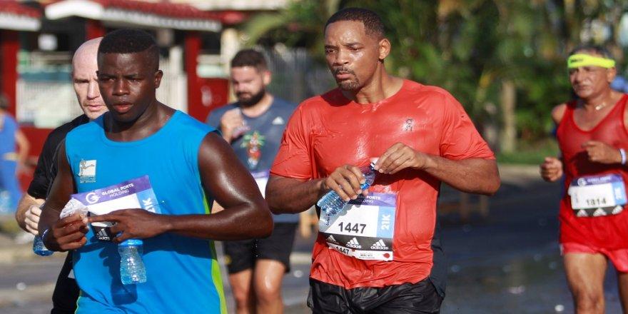 Hollwood yıldızı, Küba'da maratona katıldı