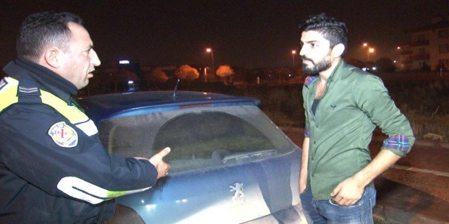 Alkollü sürücüden polise şaşırtan cevap