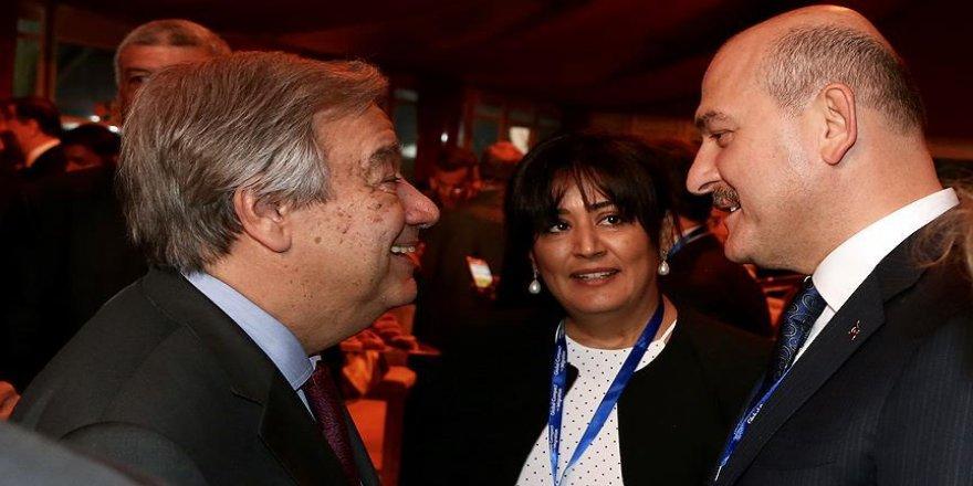 Soylu, Guterres ile görüştü
