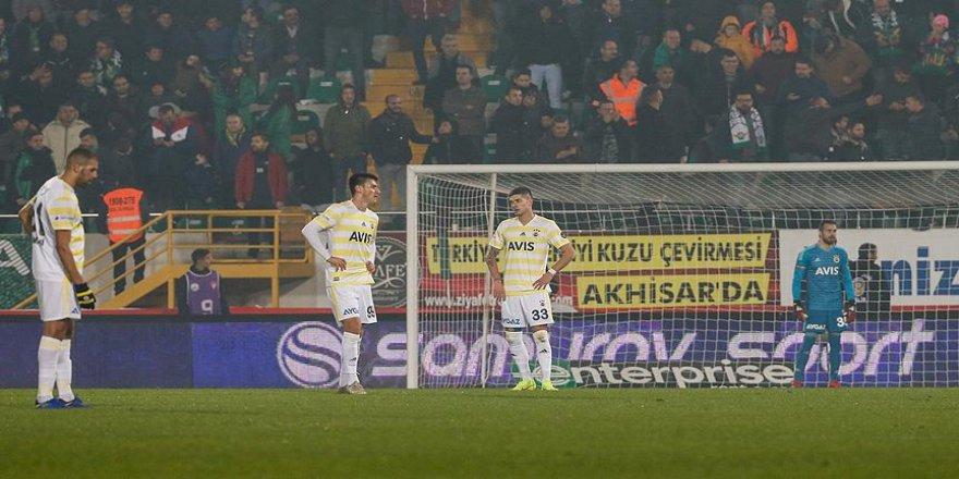 Fenerbahçe hayal kırıklığı yaşattı
