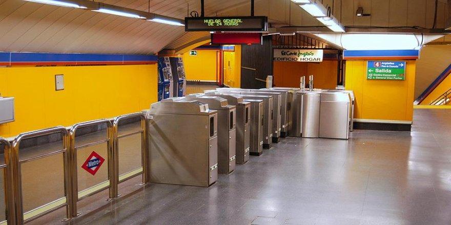 Madrid'de metro makinistleri grevde