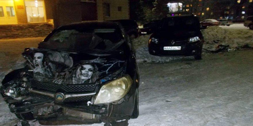 Buzlu yolda hız yapan araç, belediye başkanına çarptı