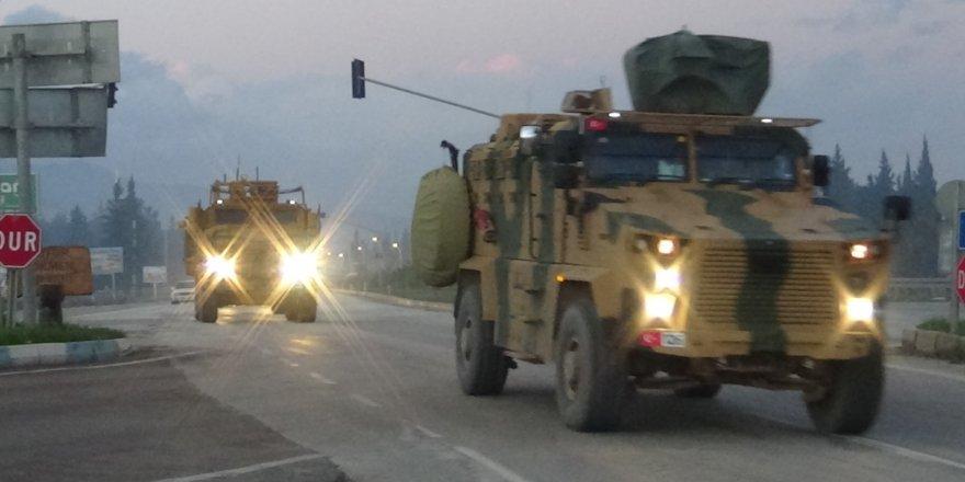 Sınıra askeri araç sevk edildi