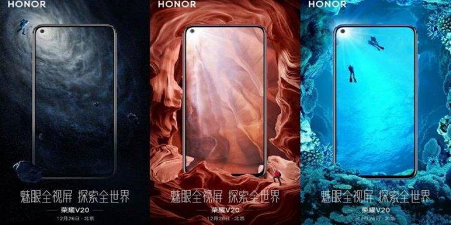 Honor View 20'nin görüntüleri ilk kez ortaya çıktı