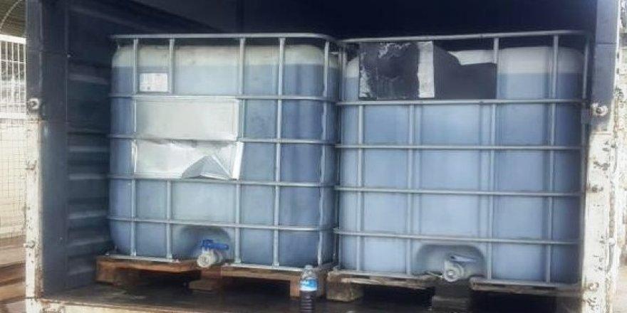 2540 litre kaçak akaryakıt ele geçirildi