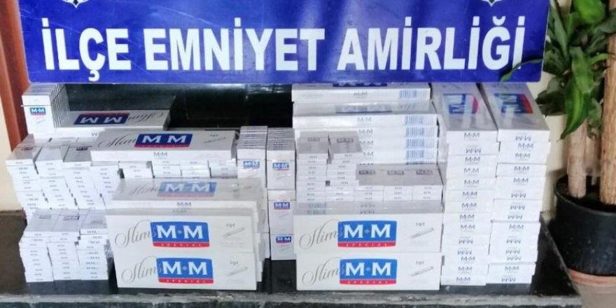 Bin 262 paket kaçak sigara ele geçirildi
