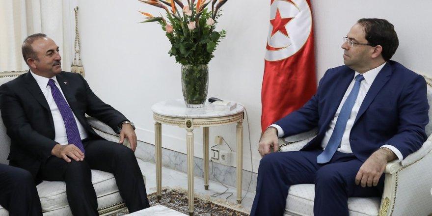 Bakanı Çavuşoğlu, Tunus Başbakanı ile bir araya geldi