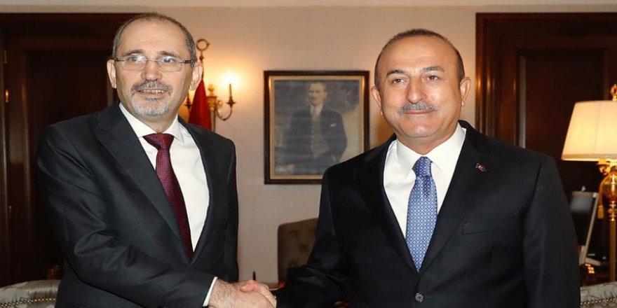Çavuşoğlu, Ürdünlü mevkidaşı ile görüştü
