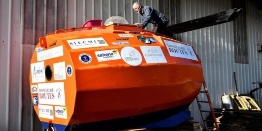 Kapsül içinde Atlas Okyanusu'nu geçmeye hazırlanıyor