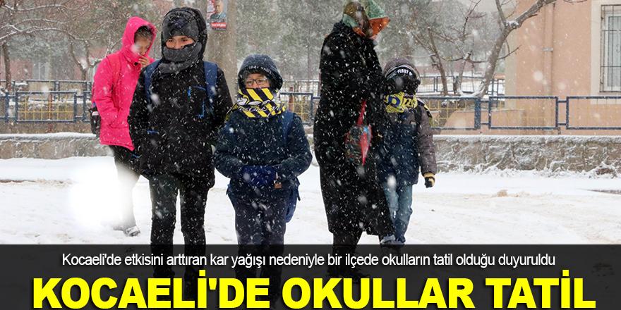 Kocaeli'de okullar tatil