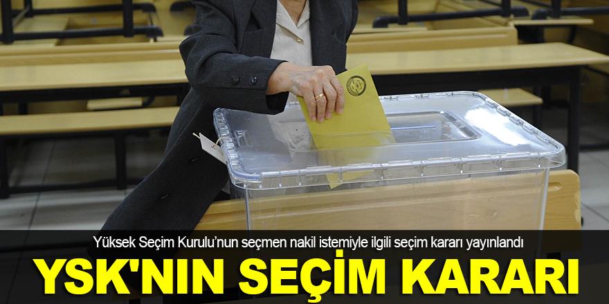 YSK'nın seçim kararı yayınlandı