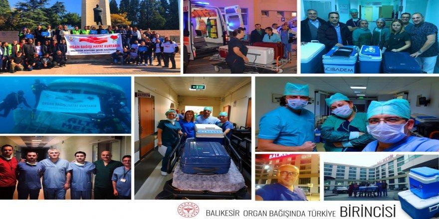 Balıkesir organ bağışında Türkiye birincisi
