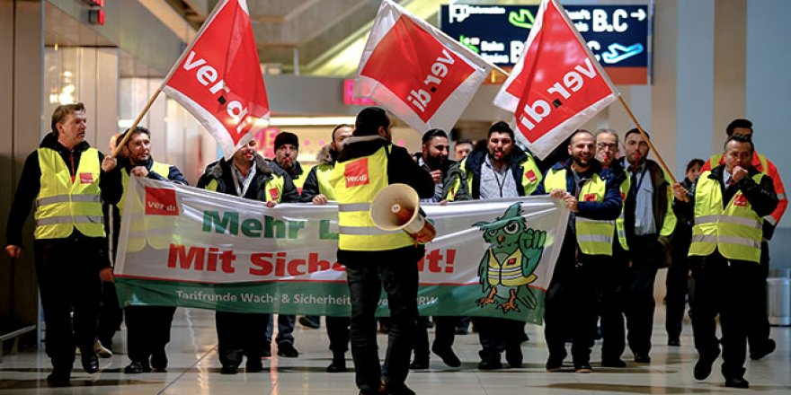 Almanya'da 600'den fazla uçuş iptal edildi