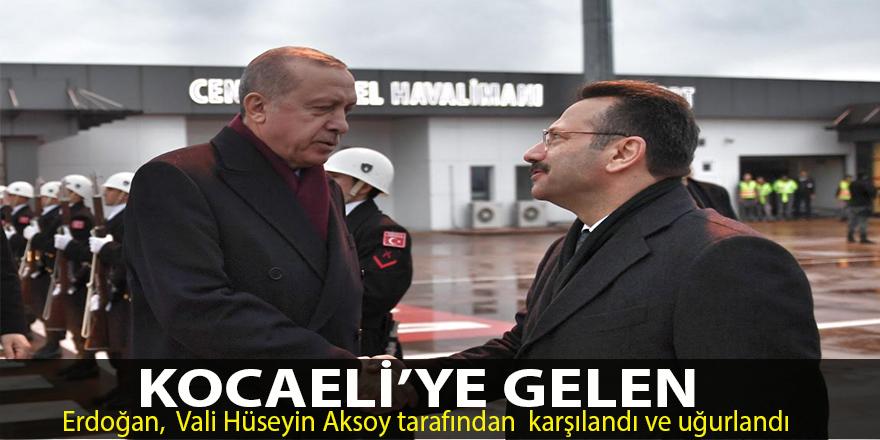 Erdoğan, Vali Hüseyin Aksoy tarafından karşılandı ve uğurlandı