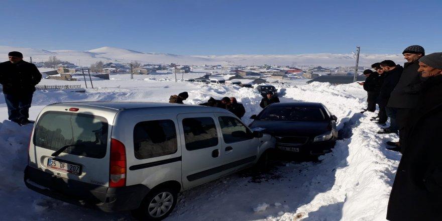 Taziye yolunda trafik kazası