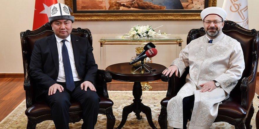 Erbaş, Kırgızistan heyetini kabul etti