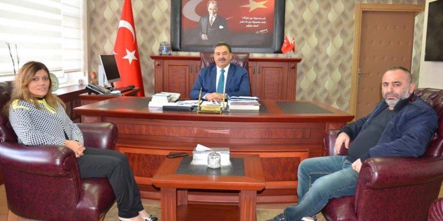 Serap Çakır'dan Kaymakam Güler'e ziyaret