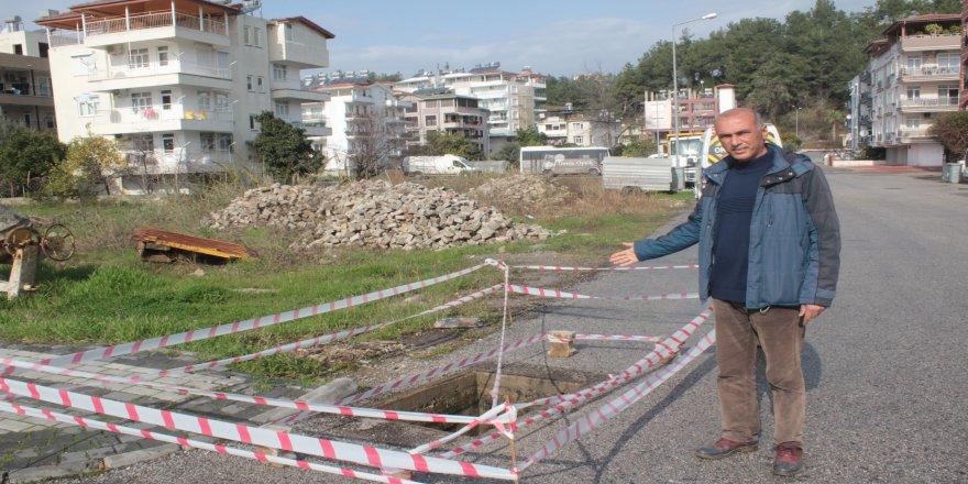 Manavgat'ta rögar kapağını çaldılar