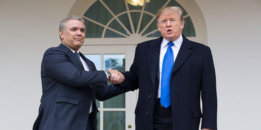 Trump, Duque ile birlikte