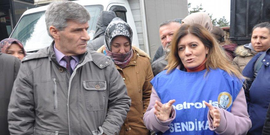 Serap Çakır'dan Flormar işçilerine destek