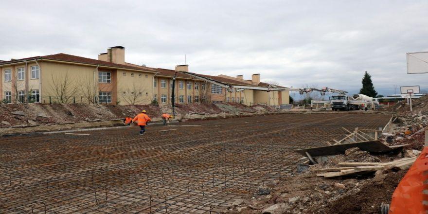 Sakarya'da 8 derslikli ek bina inşaatının temeli atıldı
