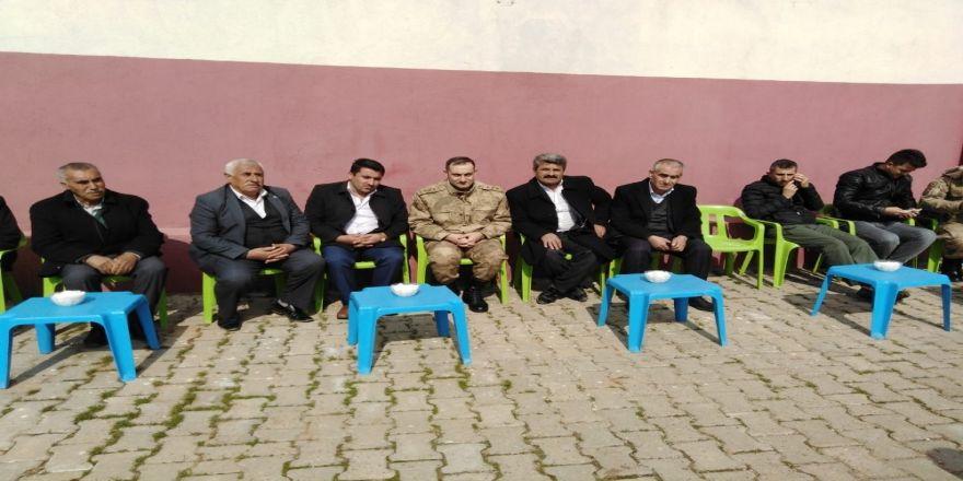 Midyat İlçe Jandarma Komutanı köy ziyaretinde bulundu