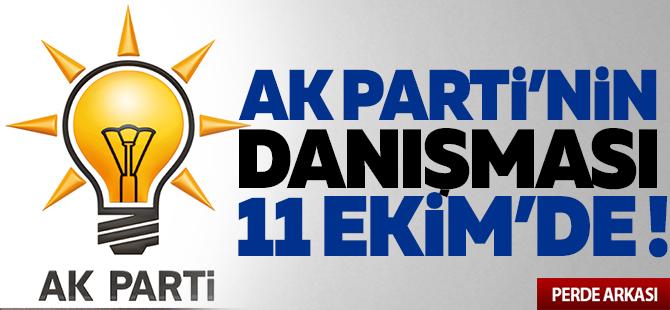 AK Parti'nin Danışması 11 Ekim'de