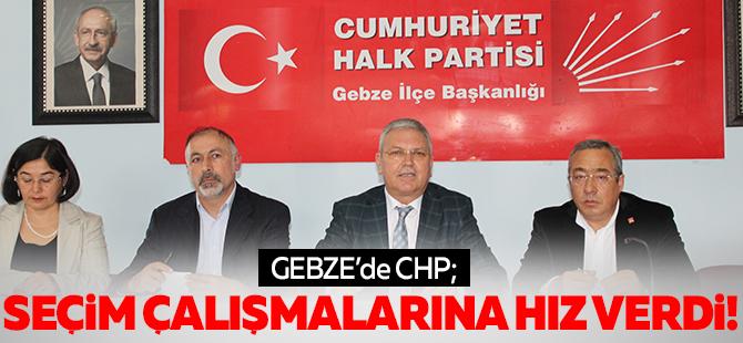 CHP Gebze  seçim çalışmalarına hız verdi
