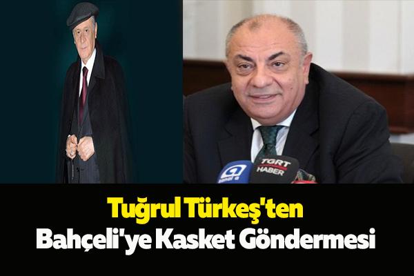 Tuğrul Türkeş'ten Bahçeli'ye Kasket Göndermesi