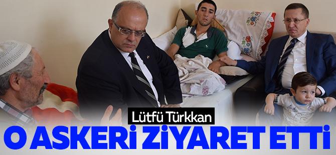 MHP'li Türkkan o askeri ziyaret etti
