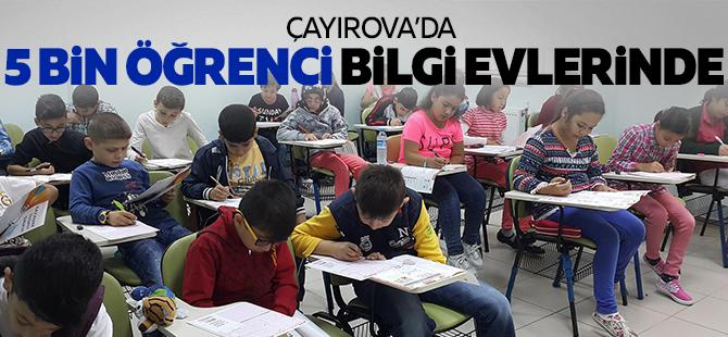 5 bin öğrenci Bilgievleri'nde