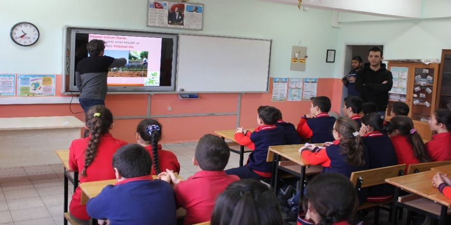 Öğrencilere organik tarım eğitimi
