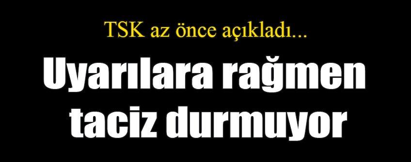 Türk uçağına yeniden taciz!