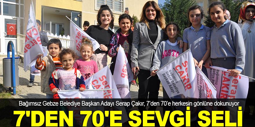 Serap Çakır'a 7'den 70'e sevgi seli