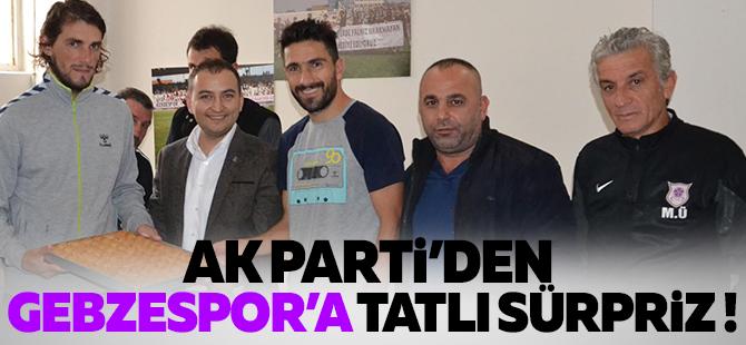 AK Parti'den Gebzespor'a 'Tatlı' ziyaret