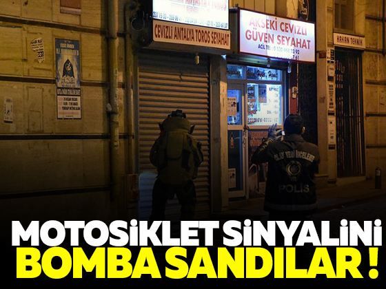 İstanbul'da motosiklet sinyalini bomba sandılar