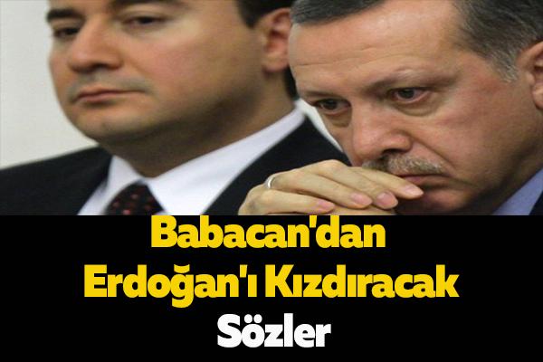 Babacan'dan Erdoğan'ı Kızdıracak Sözler