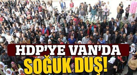 HDP'ye Van'da soğuk duş!