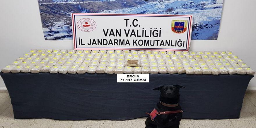 Van'da 71 kilo eroin ele geçirildi